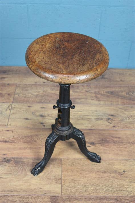 wood  cast iron stool antiques atlas
