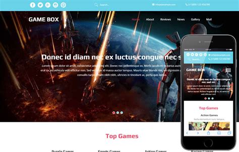 free templates for games website game box a games category flat bootstrap responsive web
