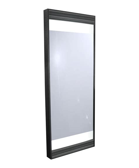 full length mirror with light bulbs collins 6621 edge full length framed mirror w lights