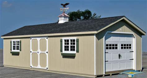 1 car prefab garage horizon structures