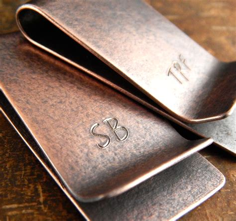 Handmade Money Clip - personalized money clip custom monogram initials by erinbowe