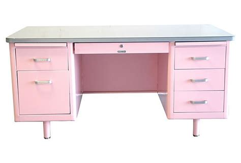 Mg Home Office Another Pink Desk 1950 S Mcdowell Craig Pink Desk