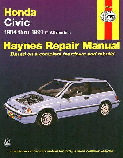 repair manual honda civix crx 1984 honda civic honda crx repair manual 1984 1991 haynes 42023