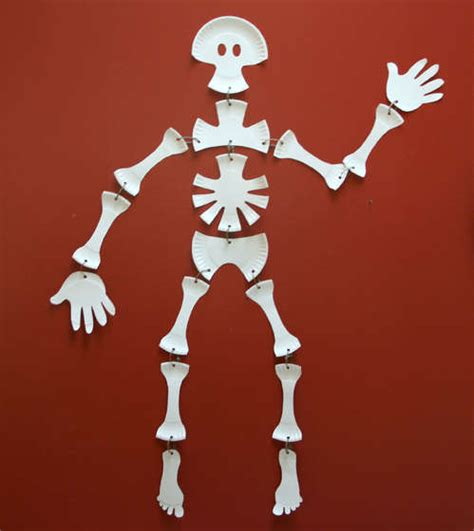How To Make A Paper Skeleton - make a paper plate skeleton 187 dollar store crafts