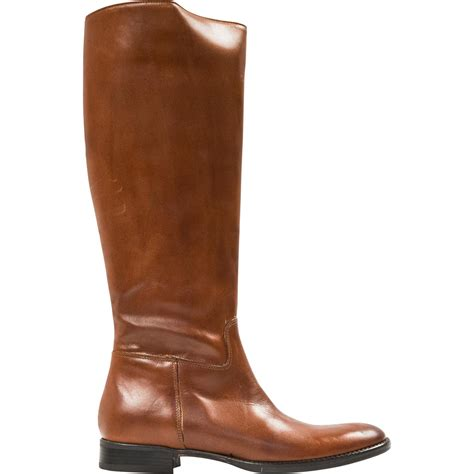 tall light brown boots annie light brown quot cuoio quot nappa leather zipper in the back