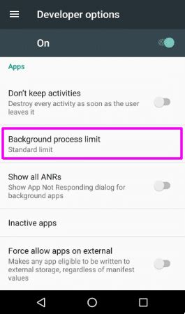 android background process limit android developer options background process limit sept exclusive trickideas