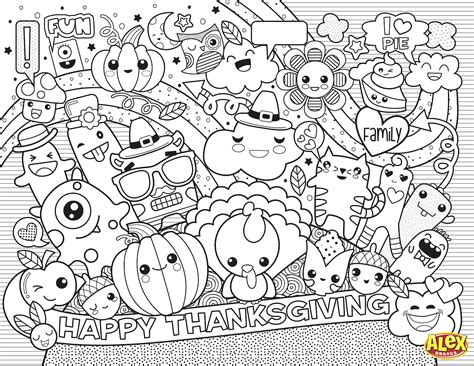 printable placemat thanksgiving placemats for to color 100 images