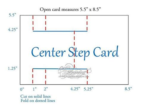 A2 Folded Card Template by A2 Stair Step Card Guide Paper Craft Tutorials