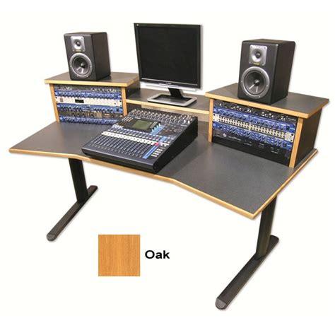 yorkville studio desk ds hs w digistation home studio desk oak finish sound construction supply