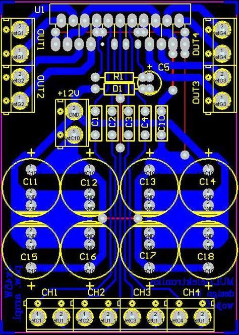 xw car amplifier circuit tdaj electronics