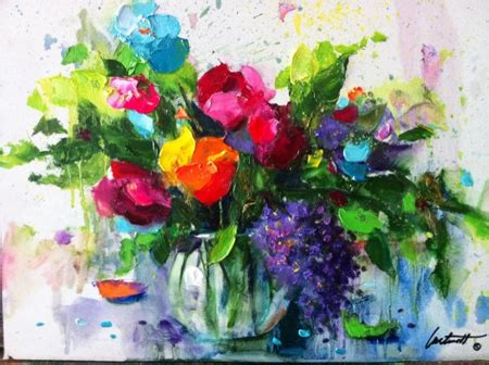 Painting With Flowers by Creating Flower Paintings At Garden Club Meetings