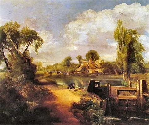 Landscape Artists Constable Constable Landscape With Boys Fishing 17th 19th