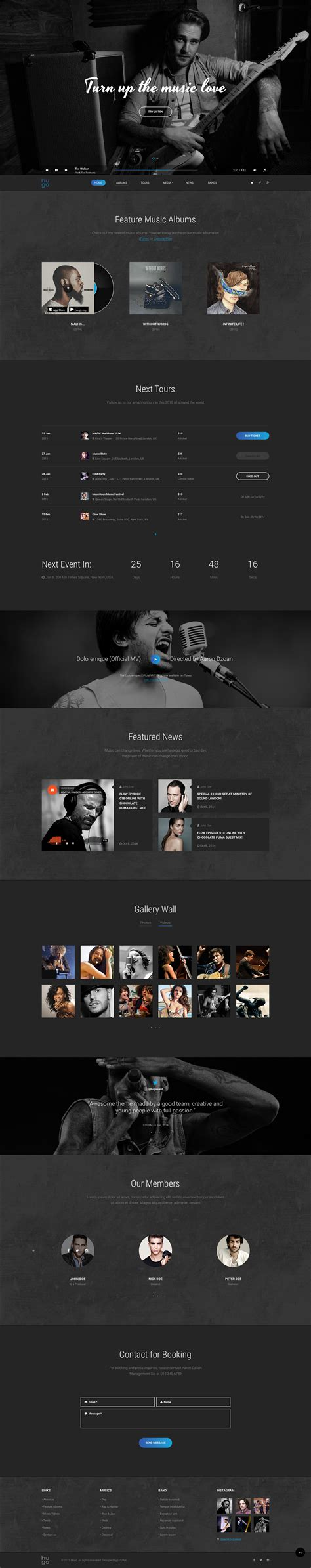 hugo themes forest hugo music bands sketch templates by dzoan themeforest
