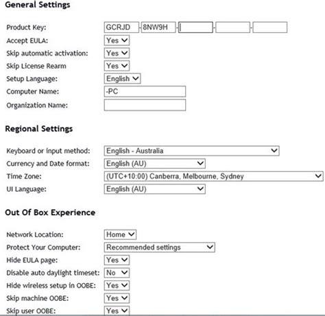 design xml online generate and download unattend xml windows file online