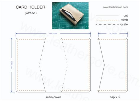 leather wallet pattern pdf download bifold card wallet pattern pdf leathercove