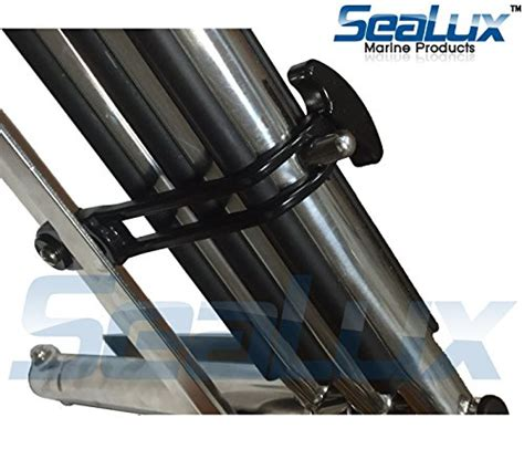 boat ladder latch amarine made polished stainless steel folding shelf bench