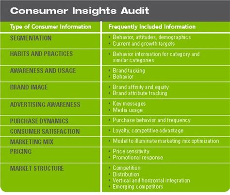 Your Brand S Consumer Insights Audit Checklist Insights In Marketing Brand Audit Template