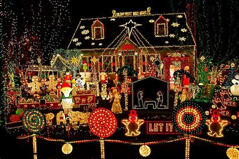 best decorated christmas houses biggest outdoor christmas lights house decorations