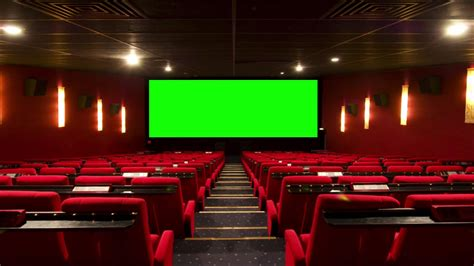 Cinema (Movie Theater, Movie House) with green screen 2