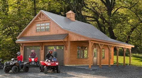 Rv Garages With Living Quarters by Create Space With A Weaver Barns Custom Garage Weaver