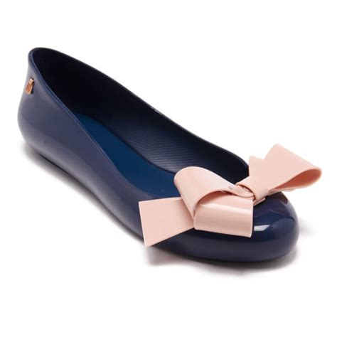 Mellisa Ribbon Ballerina 1801 1 039 s space ribbon bow ballet flats navy womens navy ballet flats scucb