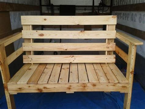 building a bench out of pallets wooden pallet sitting bench plans pallet wood projects