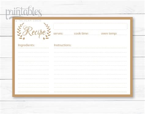 Free Recipe Card Templates For Openoffice by Free Recipe Template Gallery Professional Report