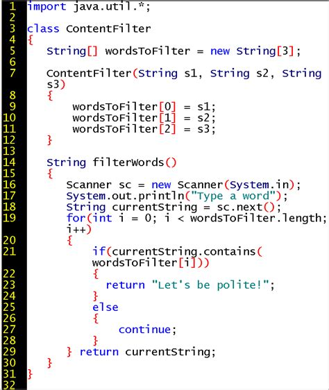 java pattern not contains string session 5 lecture notes first course in java