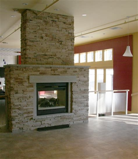 two way fireplace for the home