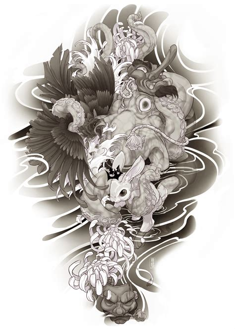 irezumi tattoo designs irezumi design arm 007 001 by fydbac on deviantart