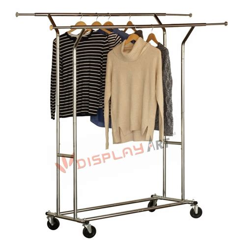 Salesman Clothing Rack by Folding Collapsible Rolling Salesman Garment Rack Heavy