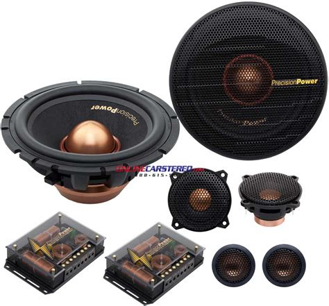 3 way component speaker system precision power pc365c 6 12 3 way component speaker system