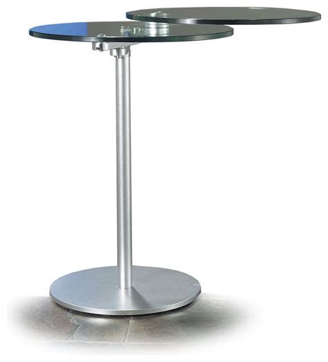 Glass Top Side Table by Modern Sliding Glass Top Side Table Saluzza