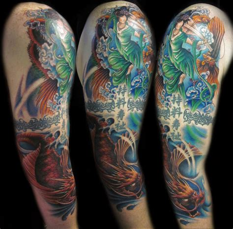 oriental tattoo colored asian color tattoo by hatefulss on deviantart