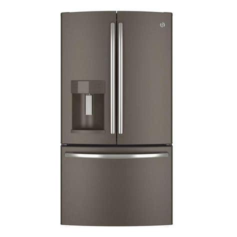 slate door refrigerator ge 27 8 cu ft door refrigerator in slate