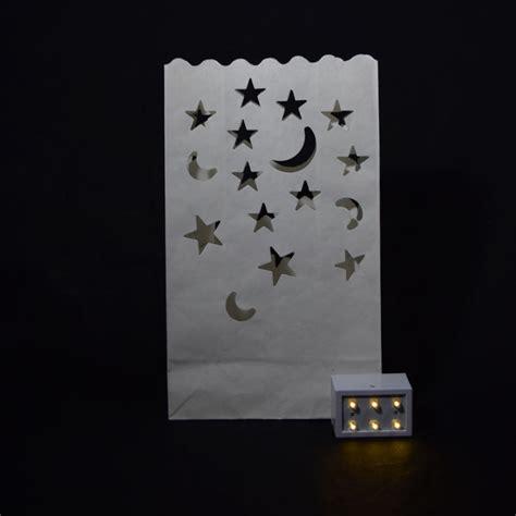 Paperbag Moon moon paper luminaries luminary lantern bags path lighting 10 pack ebay