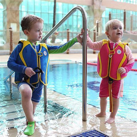Promo Swim Safe Step B Swim Vest Jaket Rompi Pelung Anak children solid color blue pool swimming jackets summer jacket boys and