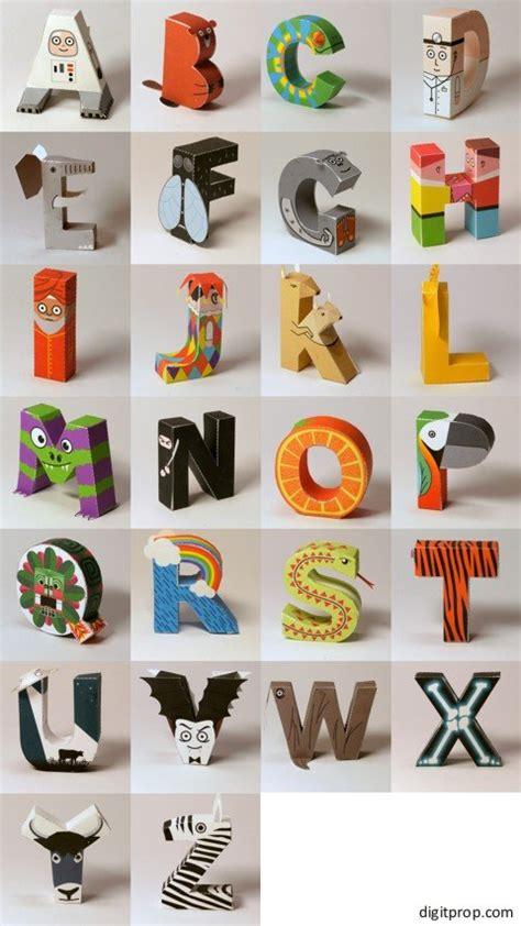 Papercraft Alphabet - alphabet digitprop paper design