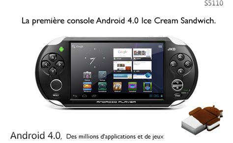 android portable console console portable sous android la jxd s5110 meilleure que