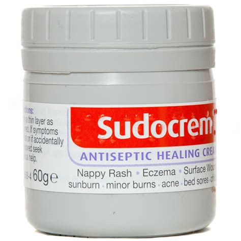 Sudocrem For Nappires And Dermatitis 60mg b m sudocrem antiseptic healing 60g 186571 b m