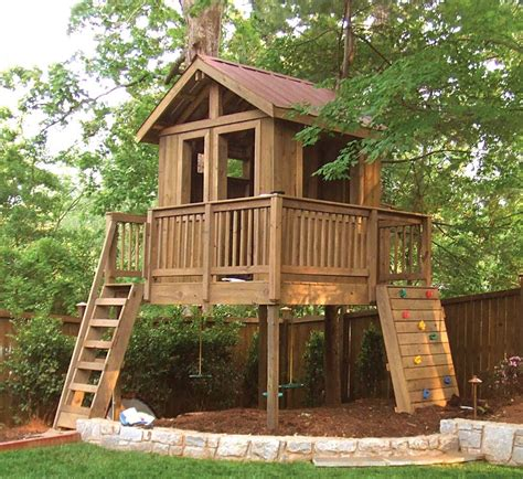 backyard tree house kits backyard clubhouse kits kids wooden tree house for free