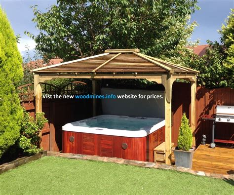 wooden gazebos for hot tubs image pixelmari com