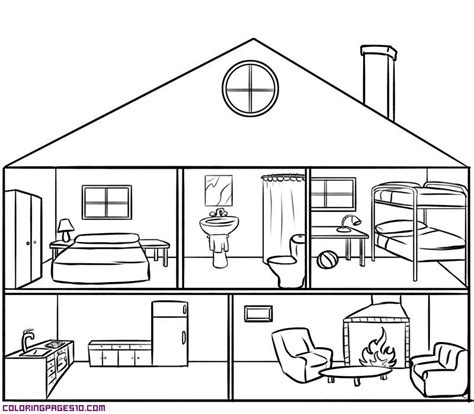 inside house coloring page house with rooms coloring pages xenia pinterest