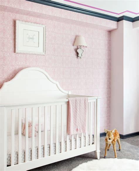 girly nursery wallpaper hannah s girly toddler room project nursery