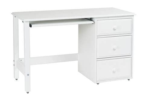 solid wood white desk white polished solid wood computer desk for kids bedroom