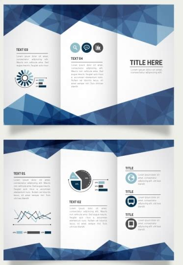 Awesome Tri Fold Brochure Design by Geometric Tri Fold Brochure Design Psd