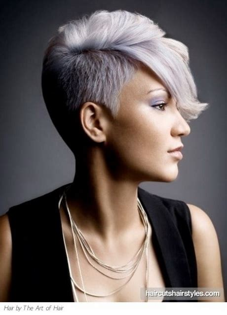 short hair cut shavef sides short shaved hairstyles for women