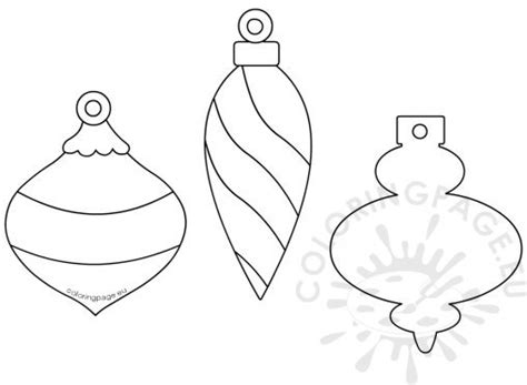 Coloring Page Baubles Templates To Colour
