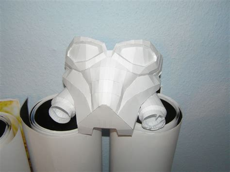 Gas Mask Papercraft - pepakura wanted mask by distressfasirt on deviantart