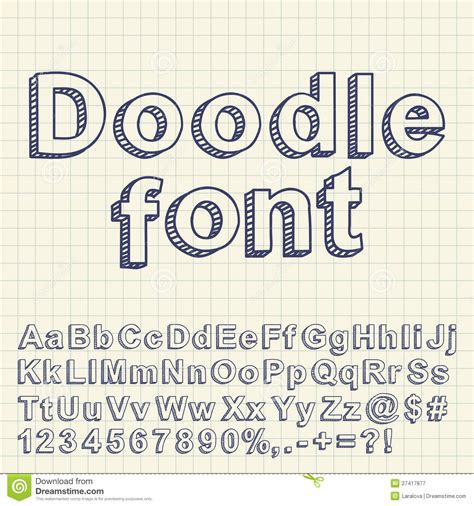 free doodle fonts abstract doodle font royalty free stock photography